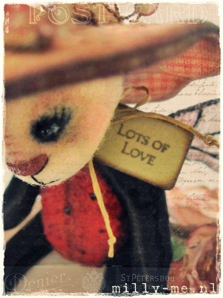 A tiny little handmade tag