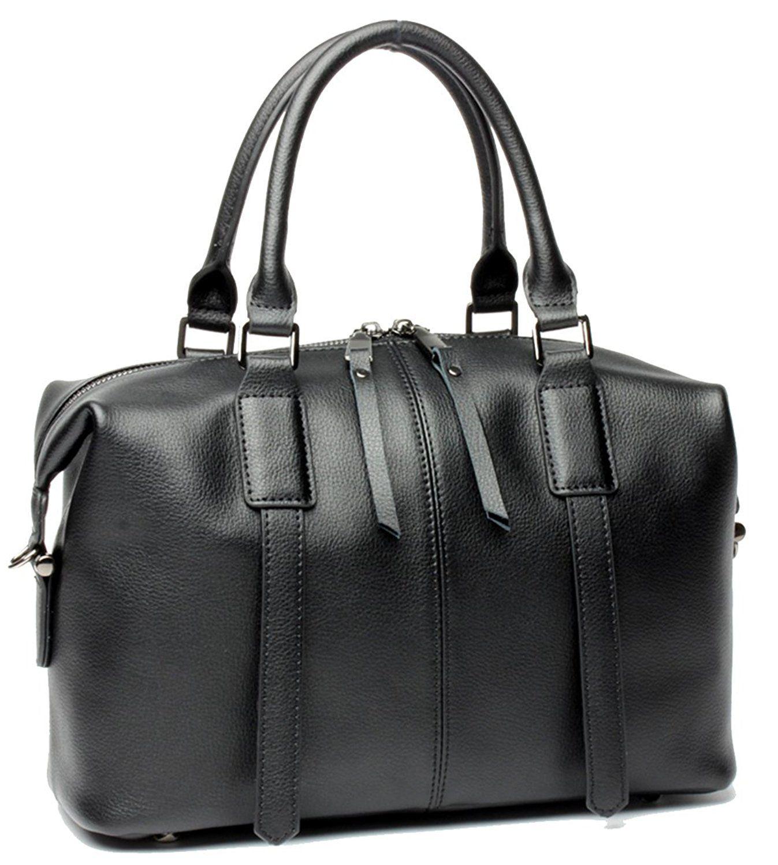 8696e86425fa Heshe Leather Handbags Totes Top Handle Bags for Women and Ladies Shoulder  Handbag Satchel Purses Cross Body Bag Boston Bag