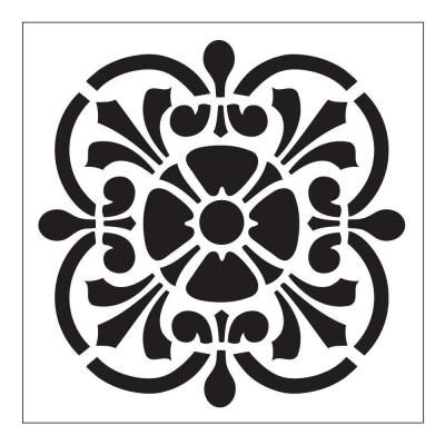 3 14 Folkart Tile Small Painting Stencils 30606 At The Home Depot