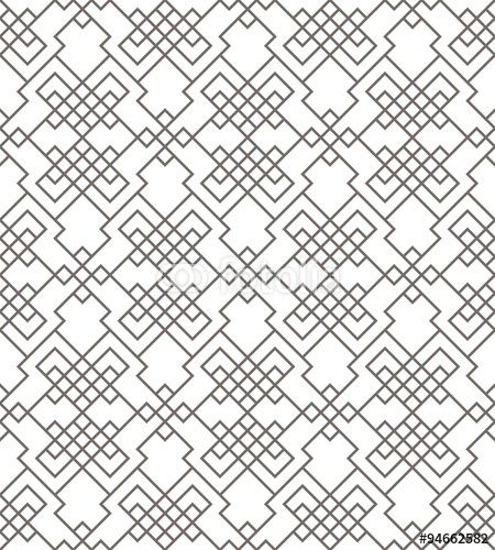 Wektor: Geometric abstract seamless pattern. Linear motif background