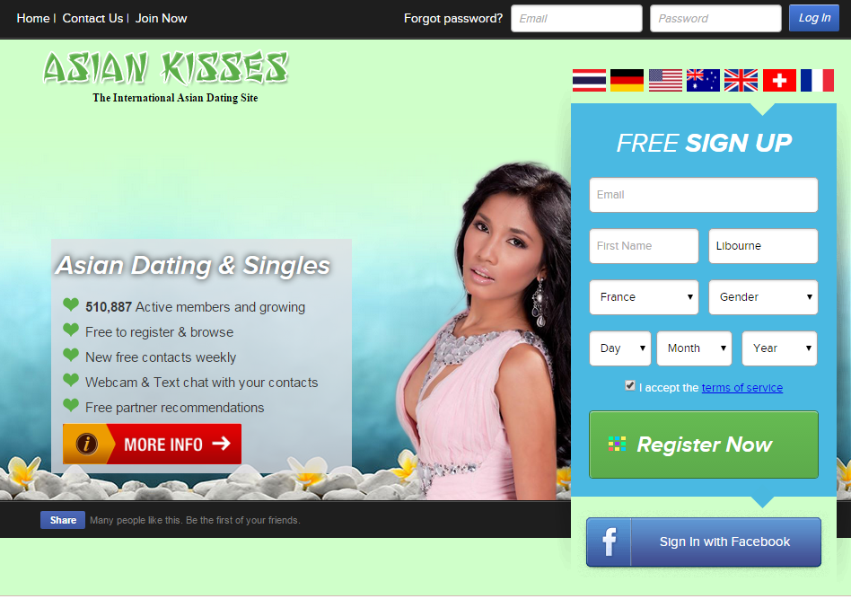 Asian Dating Site in Fran? a