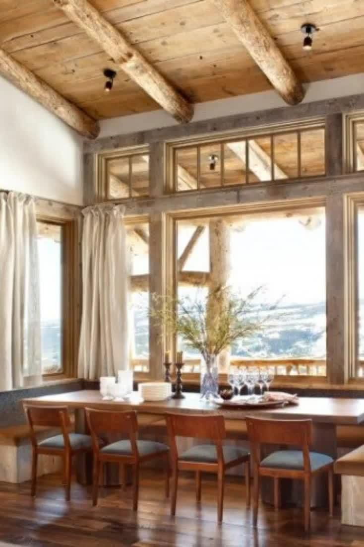 Photo of Top 40 Best Rustic Dining Room Ideas – Vintage Home Interior Designs
