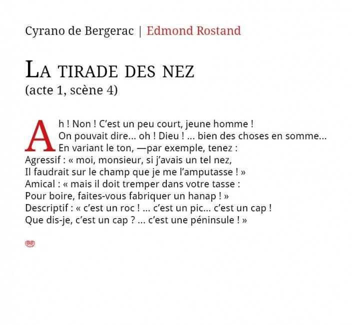 Labeur Ou Titrage Les Bonnes Combinaisons Typographiques Tirade Du Nez Typographie La Tirade Du Nez