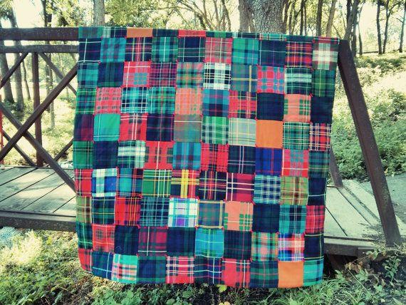 priced - 10% off! Warm Handmade Quilt of Authentic Wool Scottish ... : tartan quilt - Adamdwight.com
