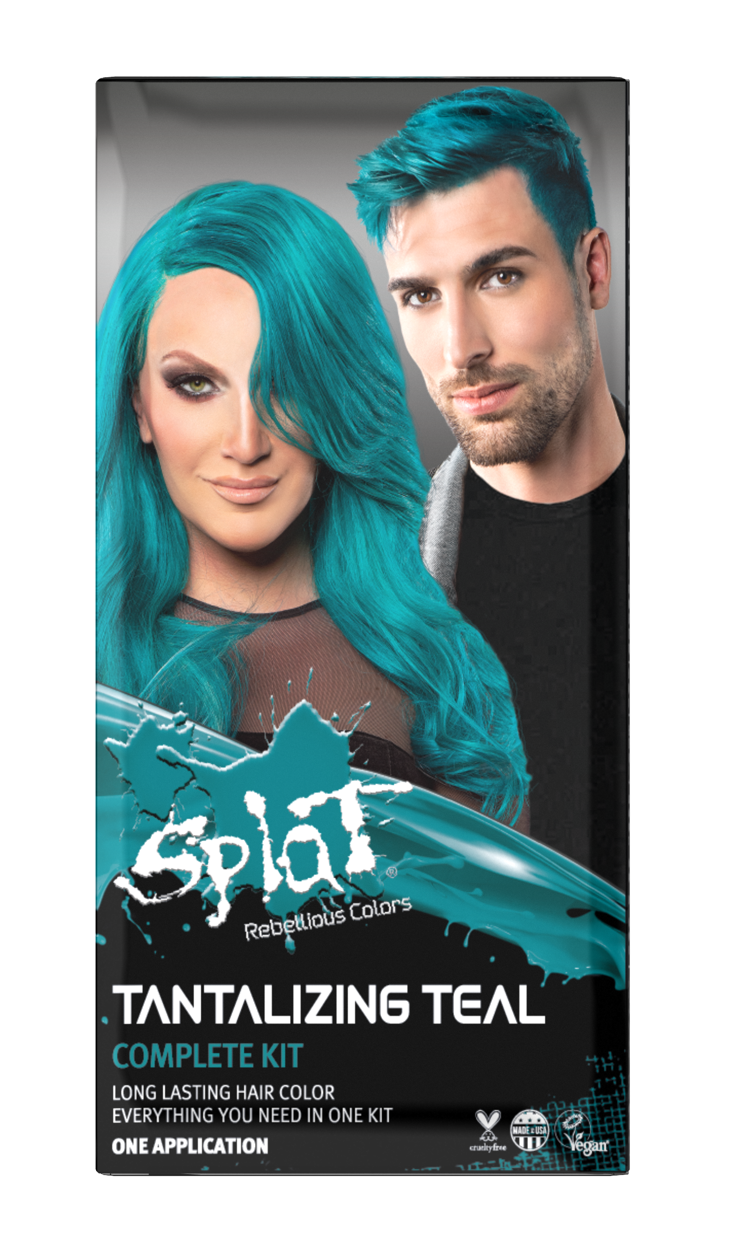 Splat Complete Kit Tantalizing Teal Semi Permanent Teal Hair Dye With Bleach Walmart Com In 2020 Splat Hair Color Hair Color Scene Hair Tutorial