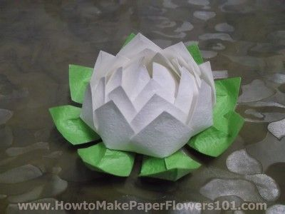 How To Make A Paper Lotus Flower How To Make Paper Flowers Diy