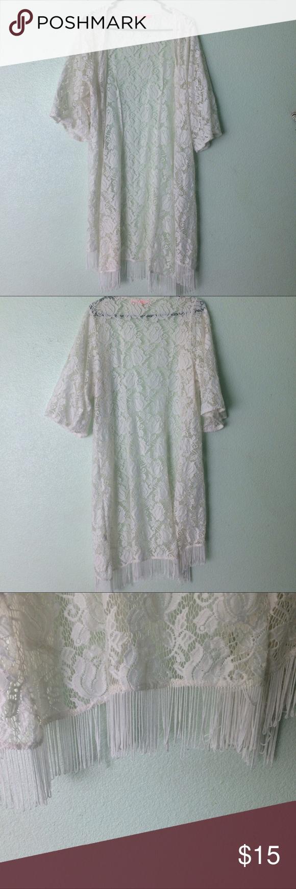 Silver pearl marisol white lace 1 - White Lace Kimono
