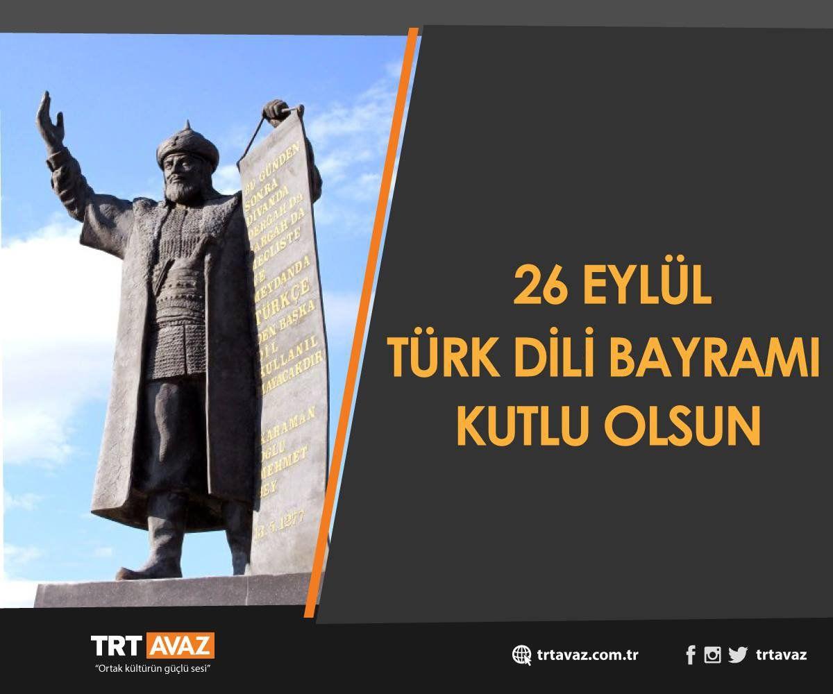 RT @trtavaz: Türk dili Türk milletinin kalbidir zihnidir.  Türk Dili Bayramımız kutlu olsun! https://t.co/Fd1UKueiKn