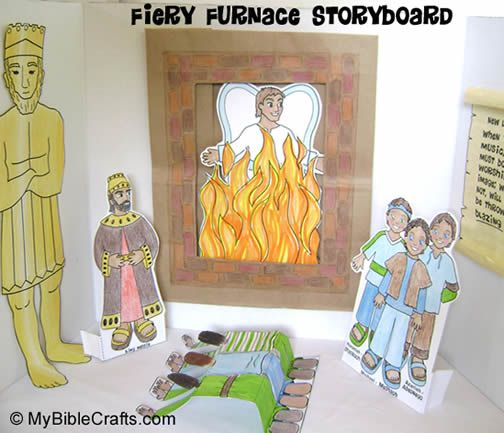 Fiery Furnace Storyboard  Visual Aid For ChildrenS Ministry To