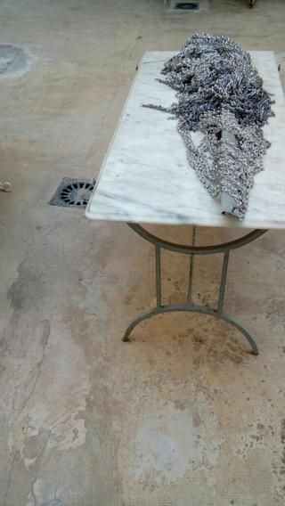 Mesa jardín de marmol | Pinterest | Mesas jardin, Muebles deco y Hierro