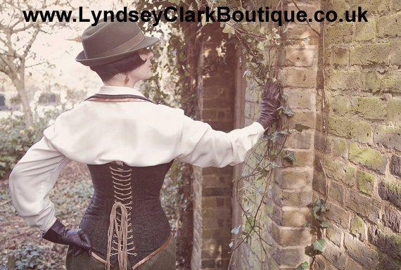 Tweed corset от LyndseyBoutique на Etsy