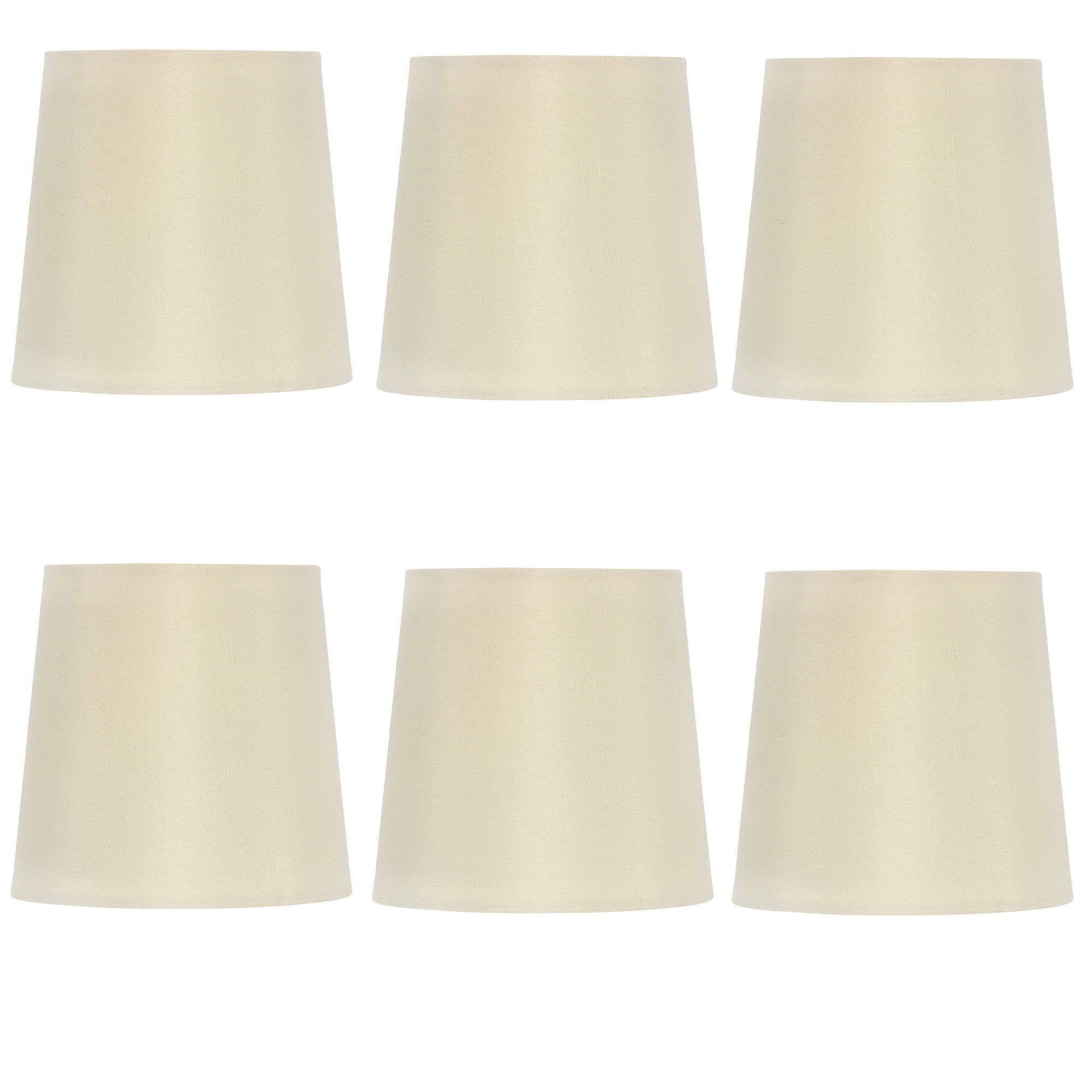 Upgradelights Set Of 6 Silk Chandelier Lamp Shades 5 Inch Euro Style Drum White