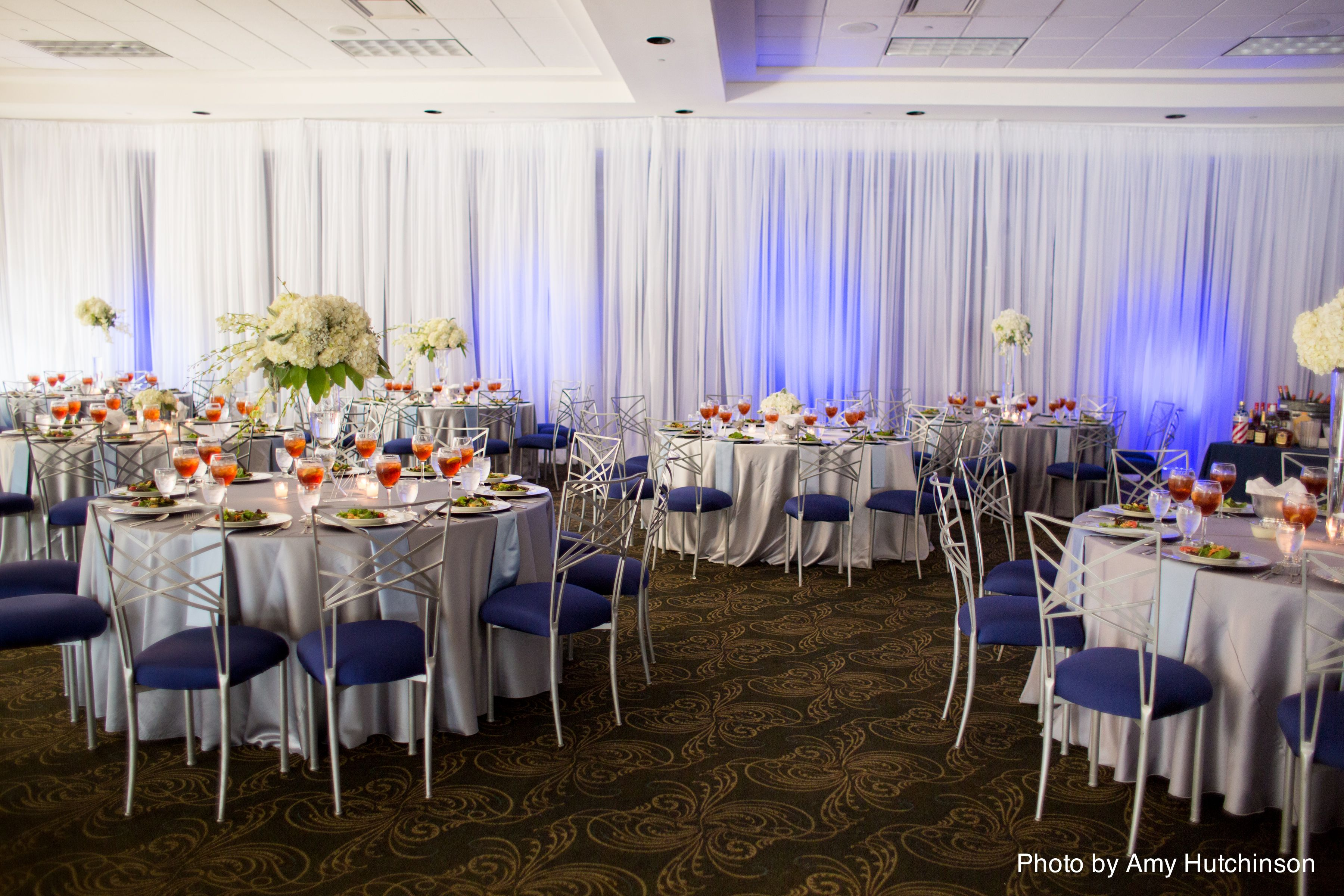 Blue Weddings Southern African American Wedding Planner Designer Hydrangea Centerpieces