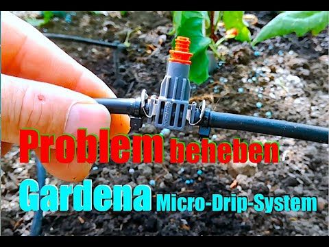 Problem Gardena Micro-Drip-System Urlaubsbewässerung - YouTube