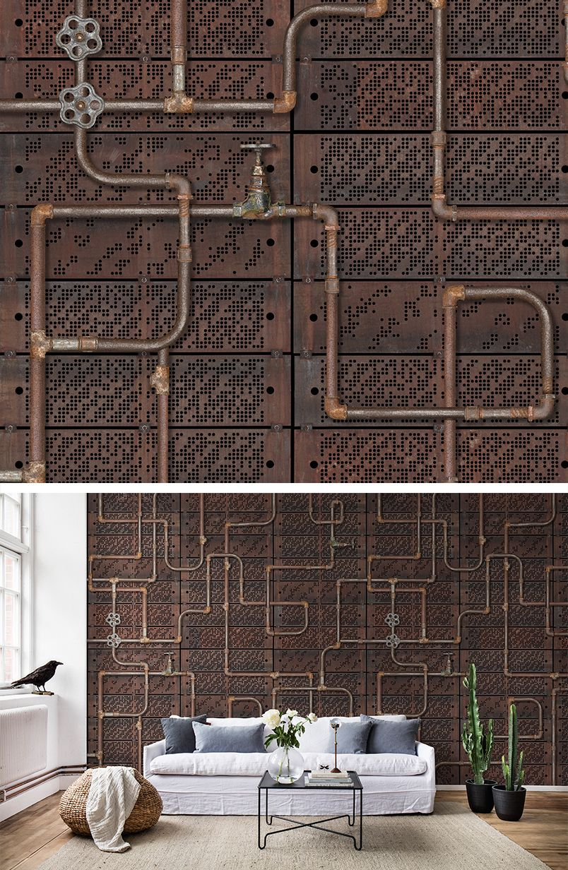30 cool steampunk wallpapers design trends - Pipework Oxidation Steampunk Wallpapersteampunk
