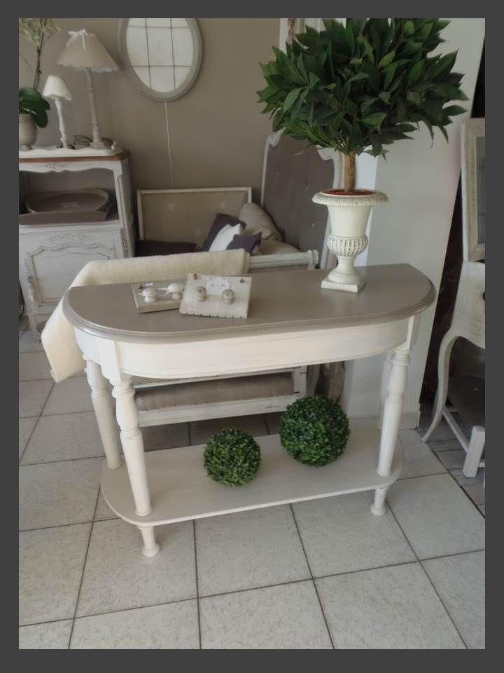 console maison de famille patin e perle et ficelle meubles vintage. Black Bedroom Furniture Sets. Home Design Ideas
