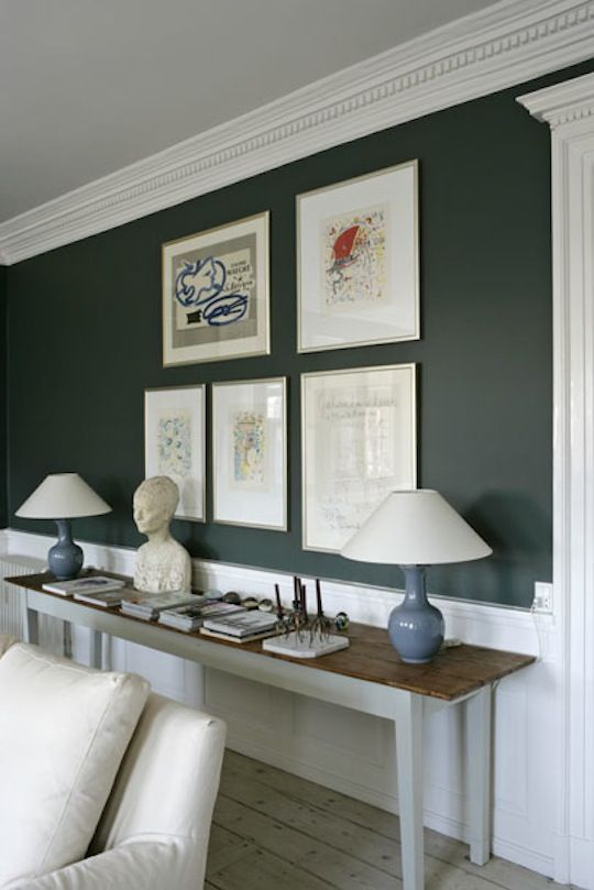 Browse Diy Archives On Remodelista Dark Green Living Room Green Dining Room Living Room Green