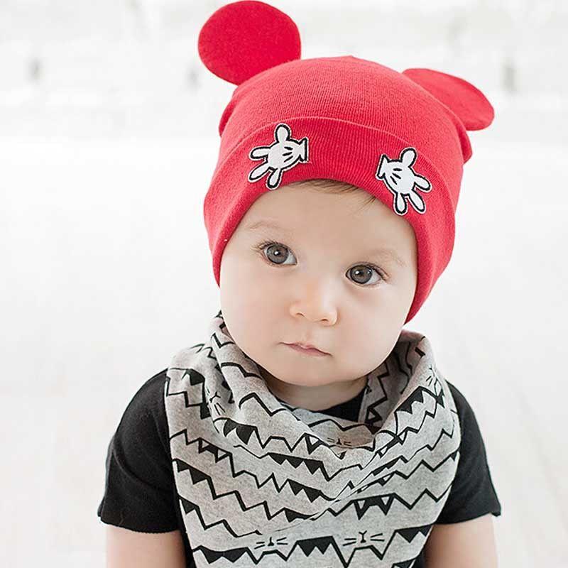 43ba268426c Cotton Baby Caps Girls Boys Cartoon Mickey Design Baby Winter Cap Baby Girl  Hats Crochet With Hands Baby Beanies Chirstmas Gift