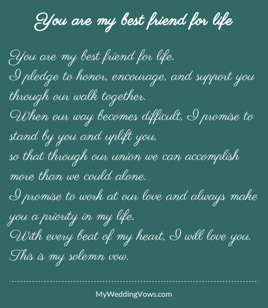Traditional Marriage Quotes: You Are My Best Friend For Life