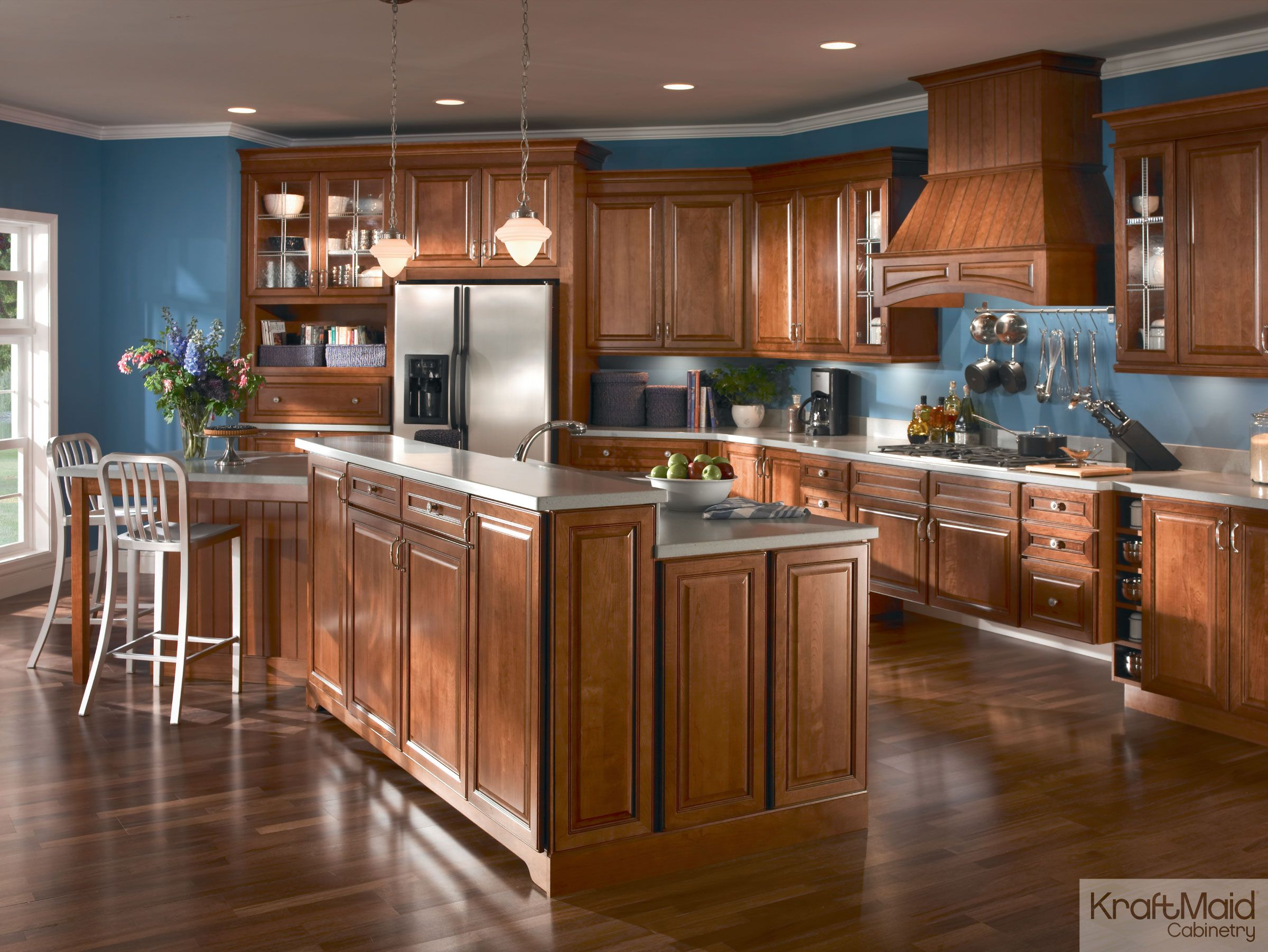 An Open Kitchen With A Multi Height Island That S Great