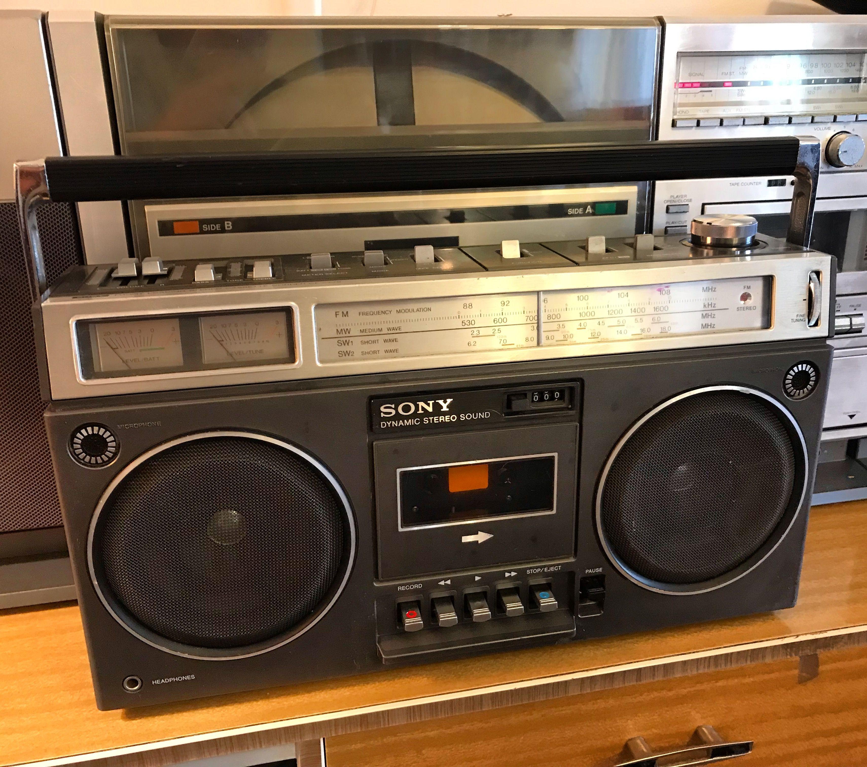 Sony Cf 530s Boombox Ghettoblaster Boombox Radio Cassette Tape Recorder