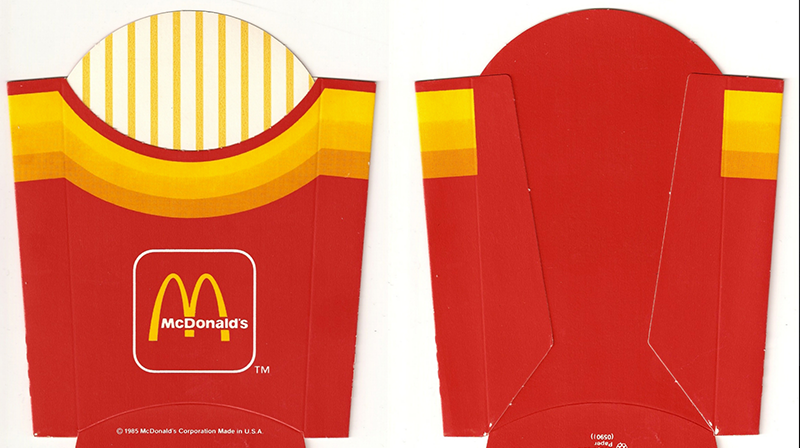 Mcdonald S Packaging Journey Through Time Mcdonald French Fries Mcdonalds Fries Retro Packaging