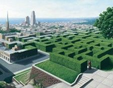 Fine art edition titled Into the Labyrinth by Rob Gonsalves