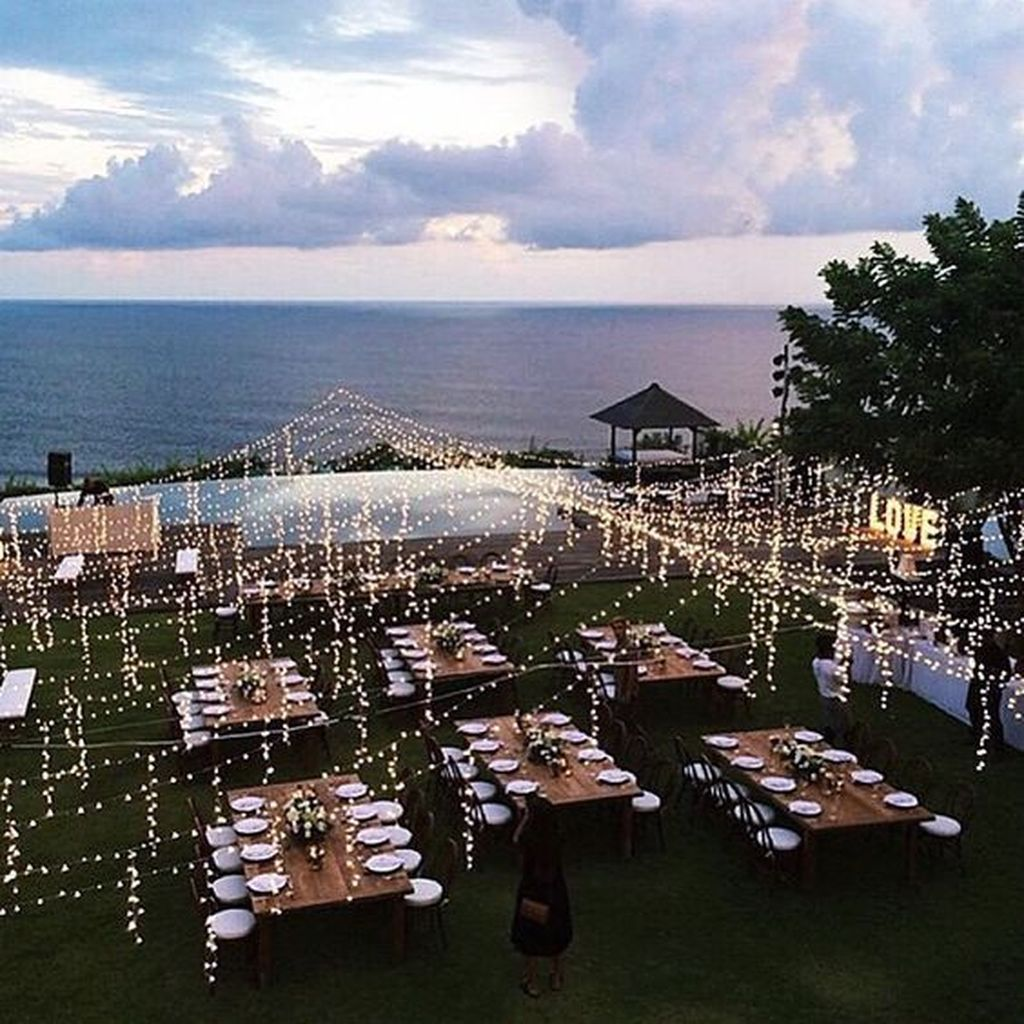 37 Amazing Wedding Decor Inspiration For Outdoor Party #decorationevent