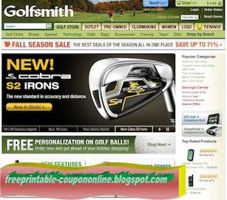 graphic about Golf Smith Printable Coupon called Absolutely free Printable Golfsmith Coupon codes Printable Discount coupons June