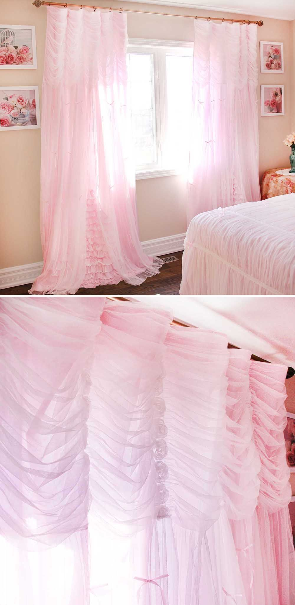 This Beautiful Ruched Curtain Would Look Beautiful In A Shabby
