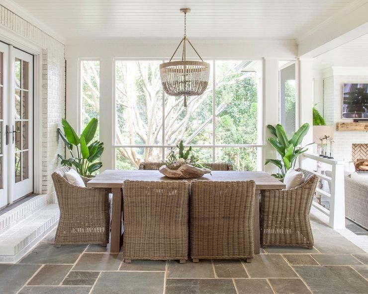 Sunken Sunroom Dining Space