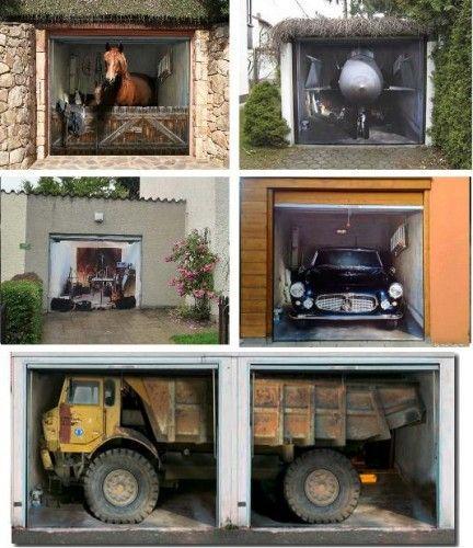Garage Door Decal Sticker Prints Illusions Diy Pinterest