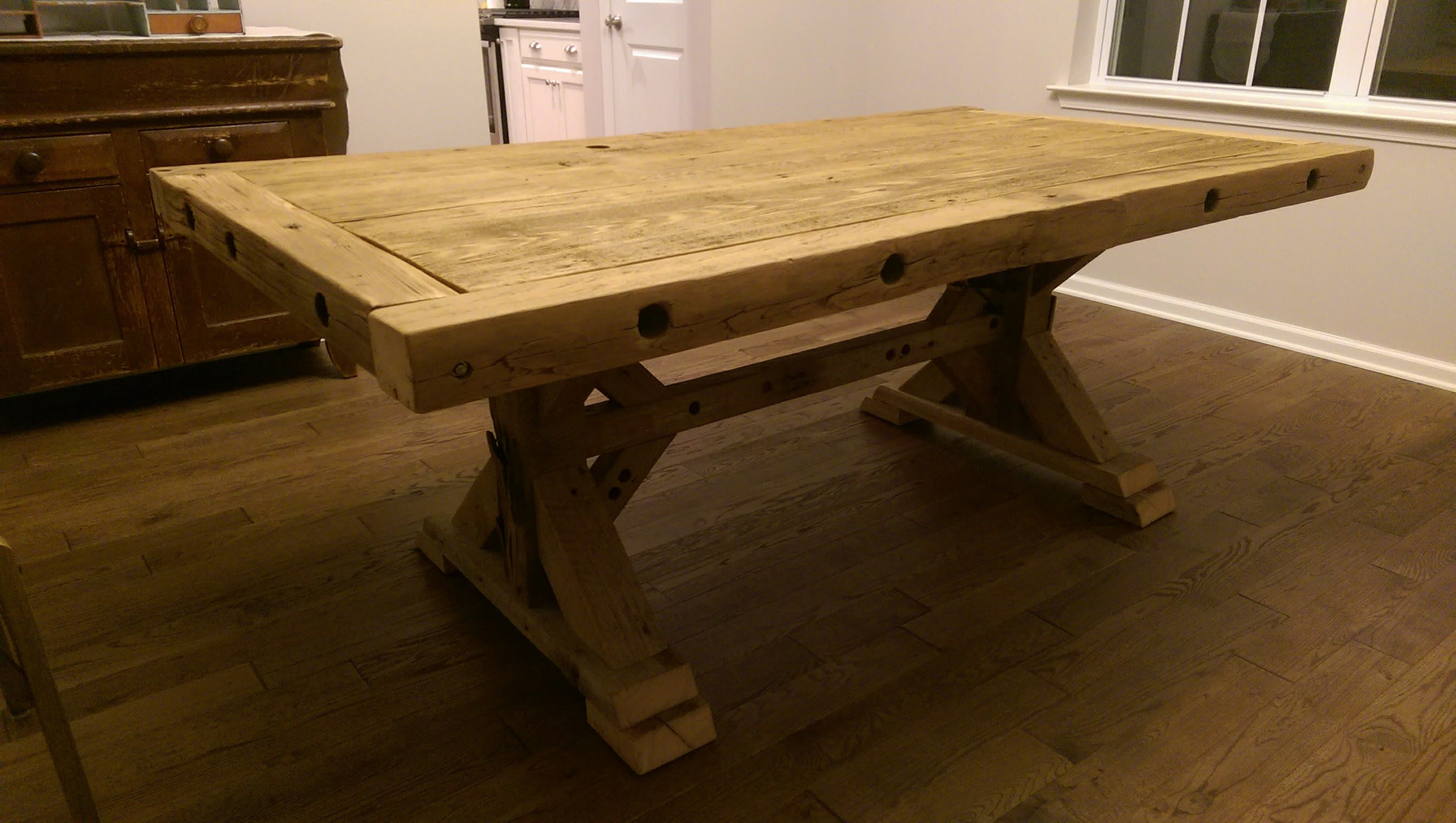 Ana White Chunky Barnwood Farmhouse Table Diy Projects Living