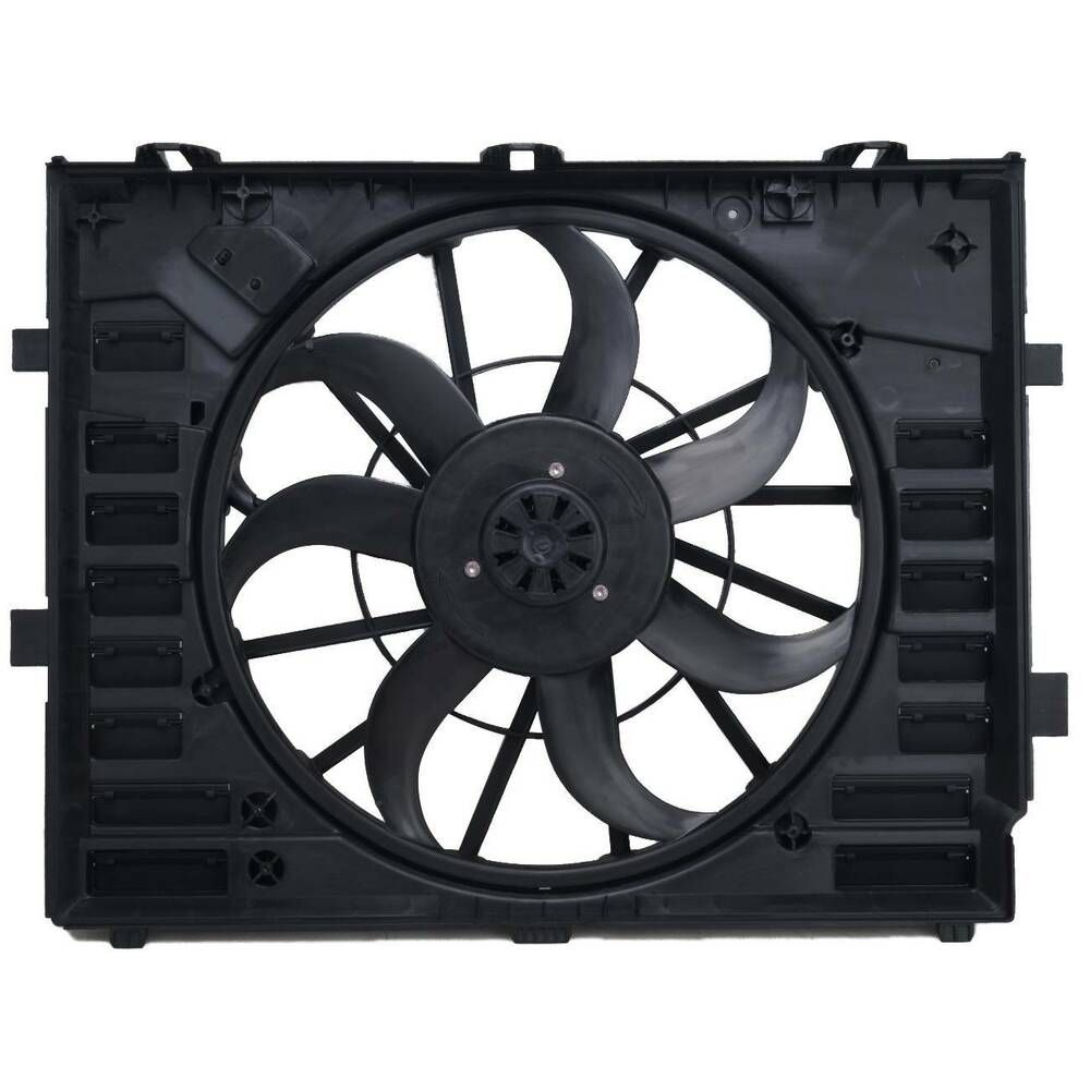 Radiator Cooling Fan Motor Assembly 600w For 15 17 Touareg Q7