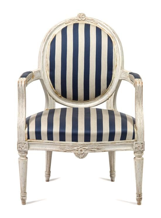 A Swedish Painted Fauteuil