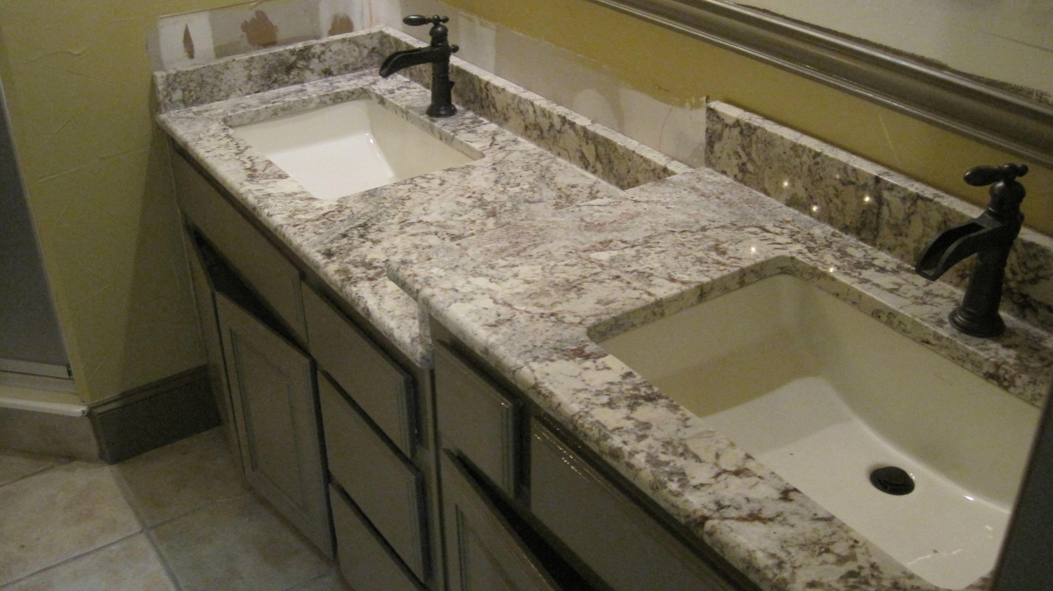 Bathroom Countertop - White Spring Custom Granite