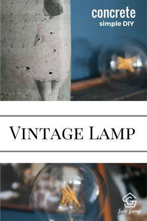 Awesome vintage lampe Lampe aus Beton selber machen betonlampe betondeko beton deko