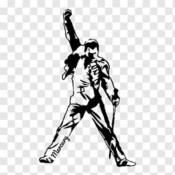 Freddy Mercury Art Decal Bumper Sticker Queen The Freddie Mercury Tribute Concert Queen Free Freddie Mercury Tribute Concert Tiger Silhouette Freddie Mercury
