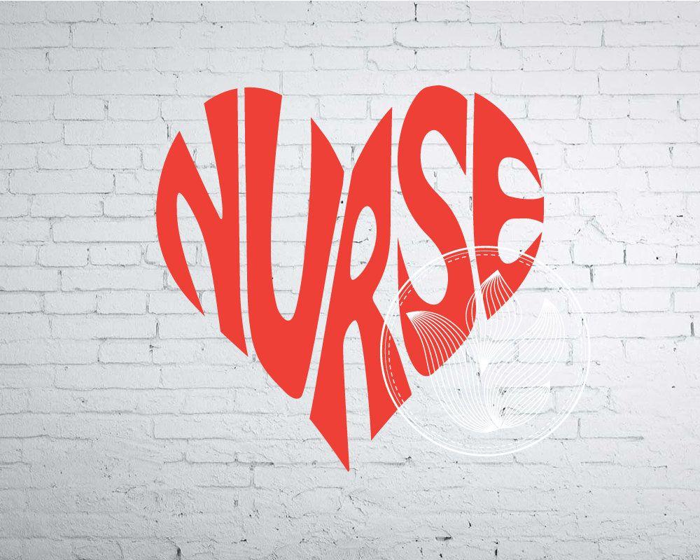 Nurse Word Art, Nurse Svg Dxf Eps Png Jpg, Nurse logo