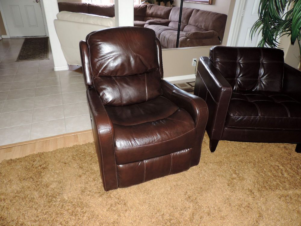 Prime Macys Colton Brown Leather Electric Power Reclining Chair Gamerscity Chair Design For Home Gamerscityorg