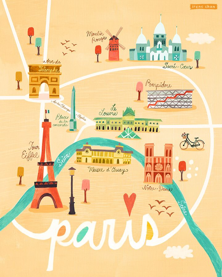 map of paris paris girl art prints