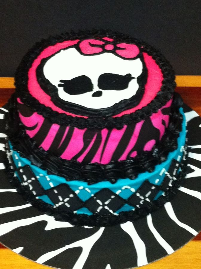 monster high sugar sheets Monster High Childrens Birthday Cakes