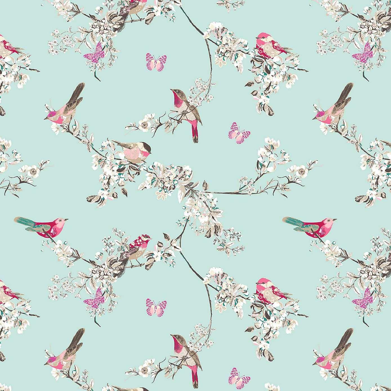 Beautiful Birds DuckEgg Fabric in 2019 Duck egg blue