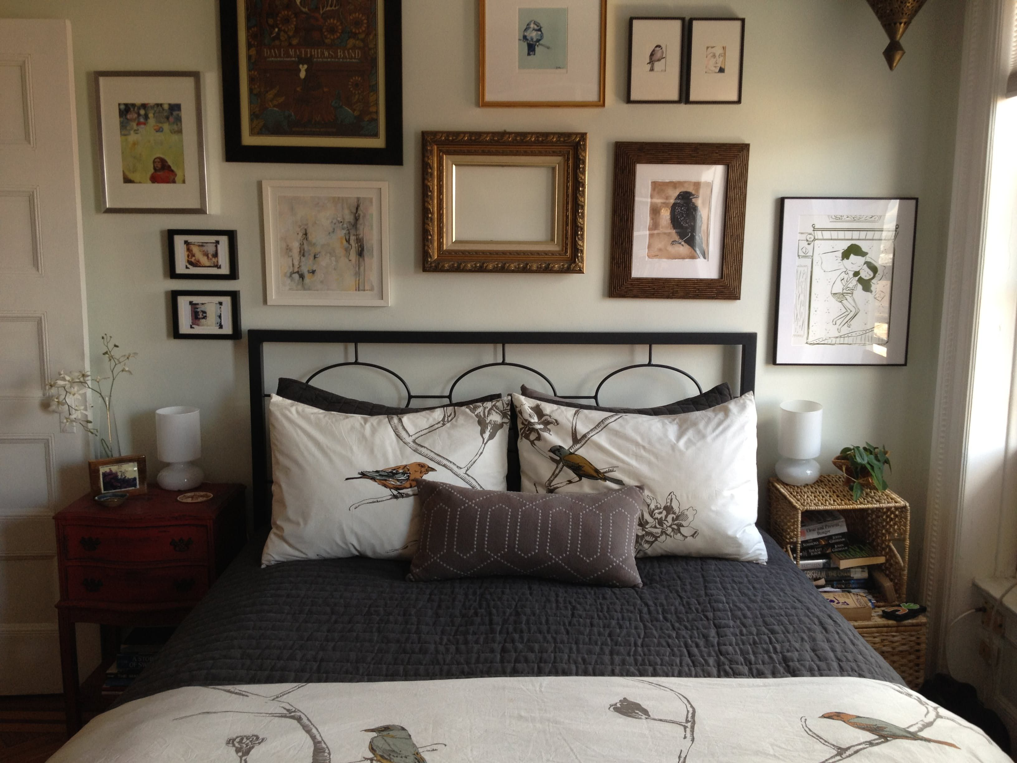 A Gallery of Art Above the Bed