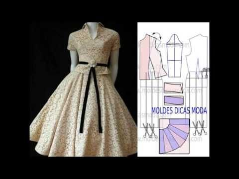 73e369981e Modelos y patrones de vestidos para dama. - YouTube