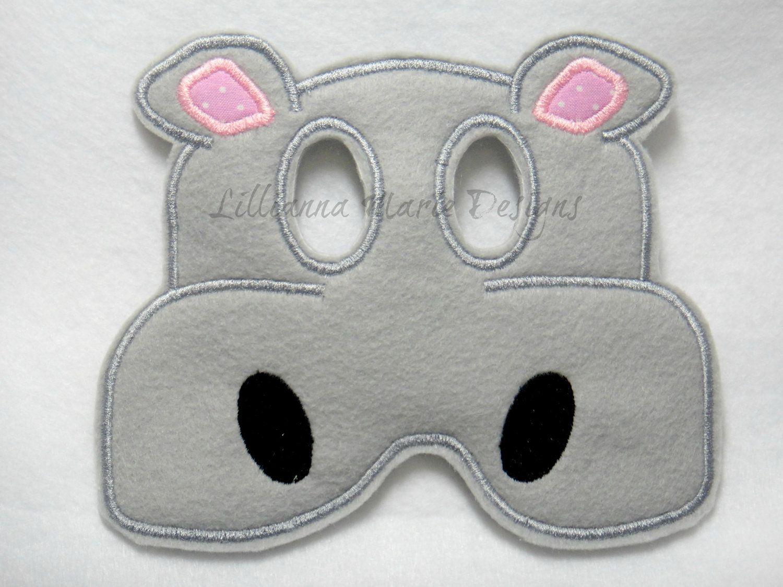 Hippo Felt Mask, Halloween, Costume, Dressup | Halloween, Figli e ...