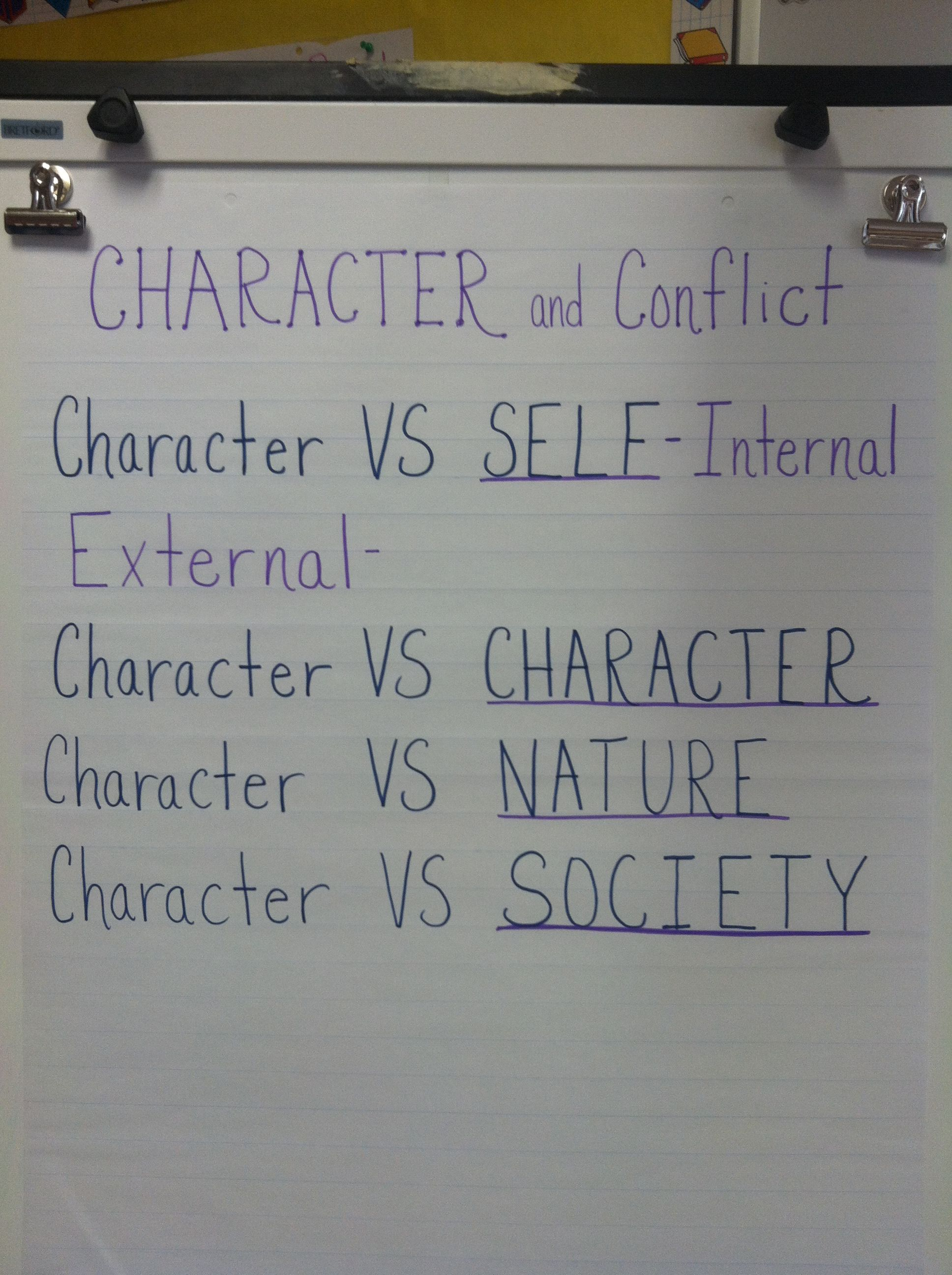 Characters Can Have Internal And External Conflicts Think