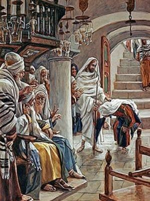 Image result for Jesus cures a woman on the sabbath in the synagog, photos, pictures