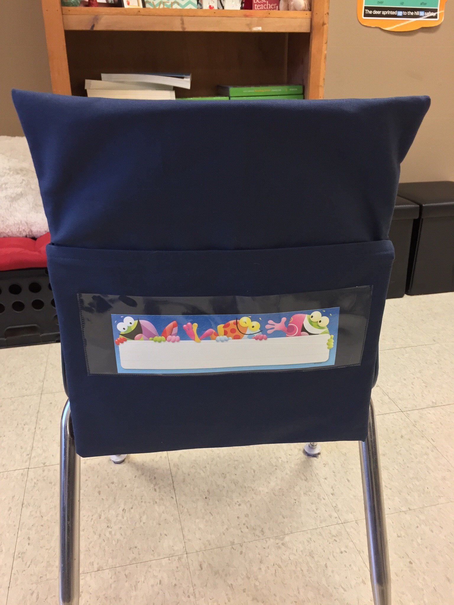 Twenty 20 Chair Pockets Classroom with Name Tag Seat Sack ...