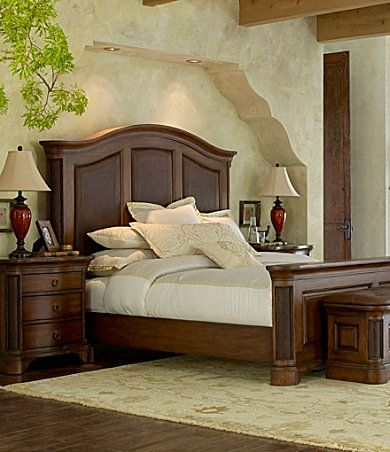 Reba\'s Santa Fe bedroom set. With a queen leather-panelled ...